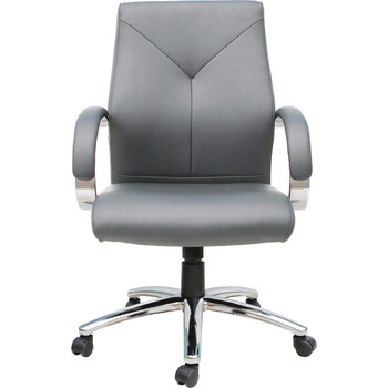 Express Grey Vinyl Executive Management Chair