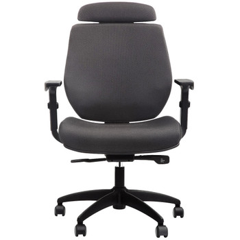 EuroTech FX2 Series Grey Mesh Closed Back Task Chair FLX501-GRYCL