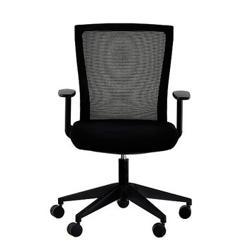 EuroTech Curv Series Black Mesh Back Office Chair