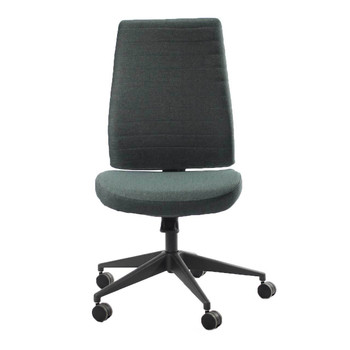 EuroTech Frasso Series Mid Back Executive Chair, Charcoal