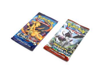 Pokemon Evolutions / BREAKthrough Sealed Combo Booster Packs (2 Packs)