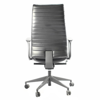 Eurotech Frasso Series High-Back Leather Executive Chair,Black