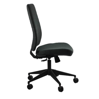 Eurotech Frasso Series Mid-Back Executive Chair, Charcoal