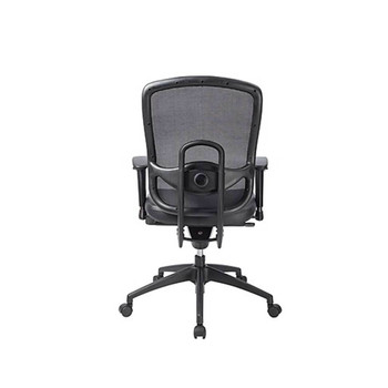 Eurotech Black Leather Accent Office Chair With Mesh-Back