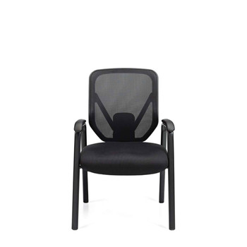 Offices To Go Black Mesh Back Guest Chair