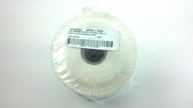 Zebra 17238 CSKT 4.0 X 2.0 05040RM LABEL (Certified Refurbished)