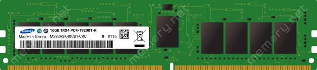 SAMSUNG 16GB PC4-19200 DDR4-2400T-R REGISTERED ECC 1RX4 (Renewed)