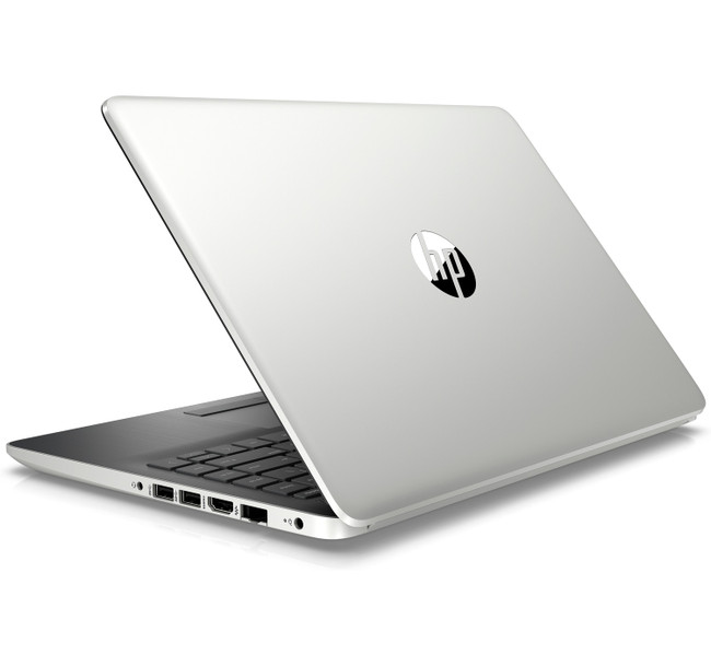 HP Notebook - 14-df0053od, Intel Celeron@1.1GHz, 4GB RAM, 64GB eMMC, Windows 10 With HP OfficeJet 5255 Printer, HP Executive Brown Backpack With 5 x 11 Photo Paper (Renewed)