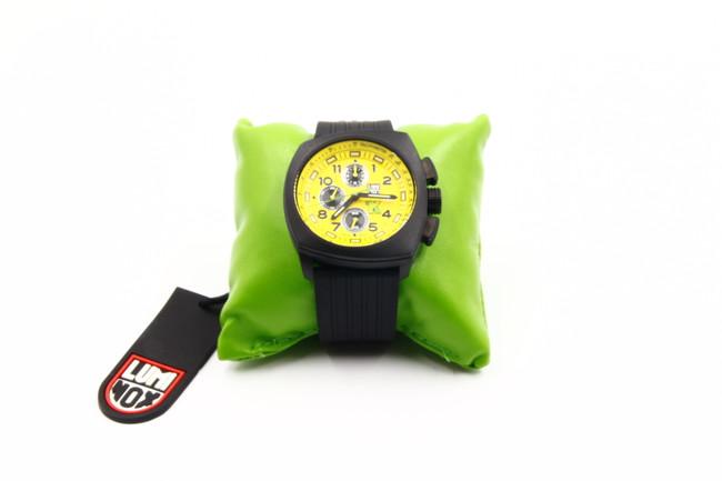 Luminox Land Tony Kanaan Quartz Watch, Carbon, Yellow, Chronograph, XL.1105.S (Used)
