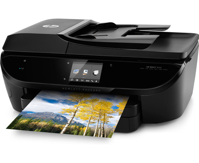 HP ENVY 7644 e-All-in-One Photo Quality Inkjet Printer, wireless printing, mobile phone compatible, in black (Renewed)