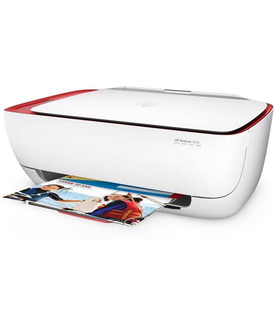 HP DeskJet 3630 Series All in One Wireless Printer, in Red (Certified Refurbished)