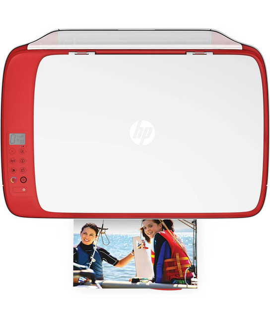 HP DeskJet 3630 Series All in One Wireless Printer, in Red (Certified Refurbished)