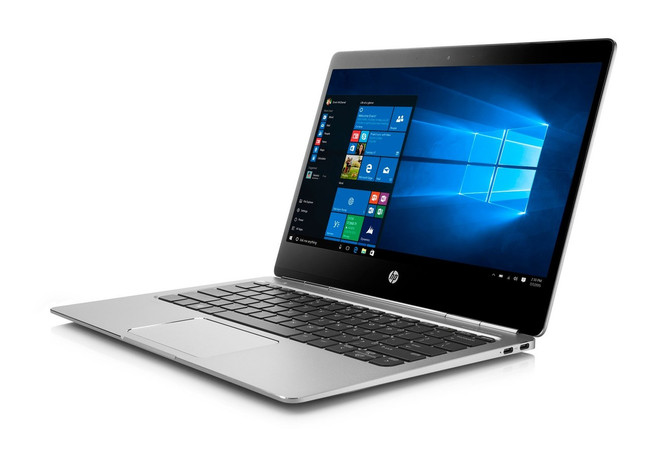 HP EliteBook Folio G1 Notebook PC, 12.5 in, Intel Core M@1.2 GHz, 8 GB DDR3 RAM, 240 GB SSD, Windows 10 (Certified Refurbished)