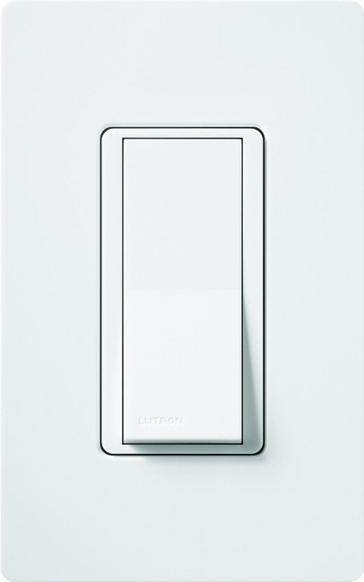 Lutron Claro On/Off Switch, 15-Amp, Single-Pole, CA-1PS-WH, White (C)