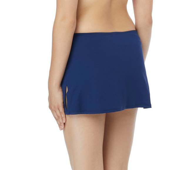 Beach House Women's Charlotte Skirted Swimsuit Bottom with Side Slit Detail, paloma Beach Admiral, 8 (C)