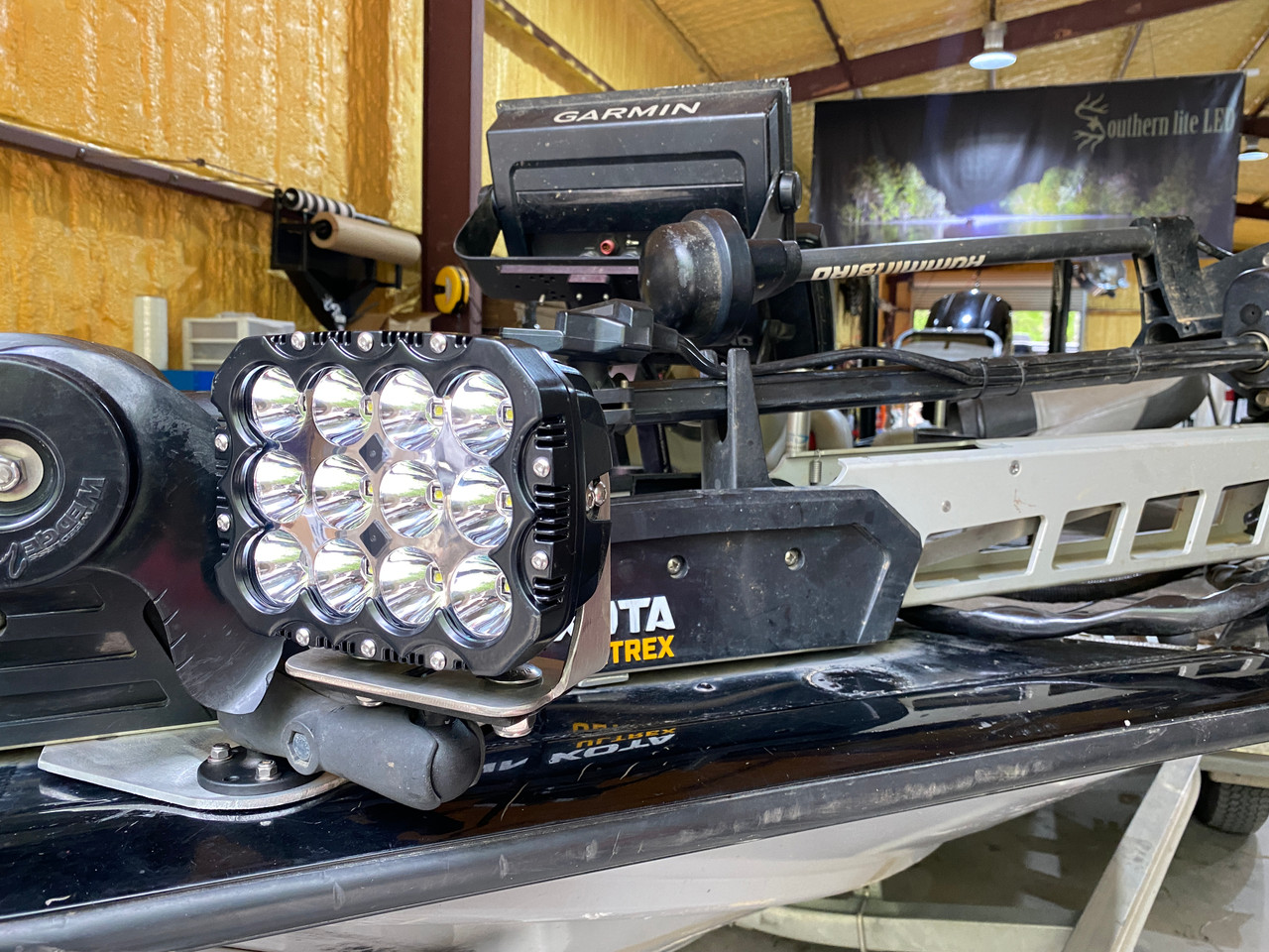 *NEW*  Bass Boat Light ULTRA 2.0 (Includes 120 WATT Cube, Ram Mount &  Quick Disconnect)