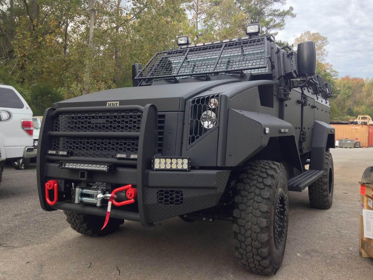 "Dual Row 11"" Southern lite LED Light Bar on Custom Bomb Proof Military Grade Vehicle"