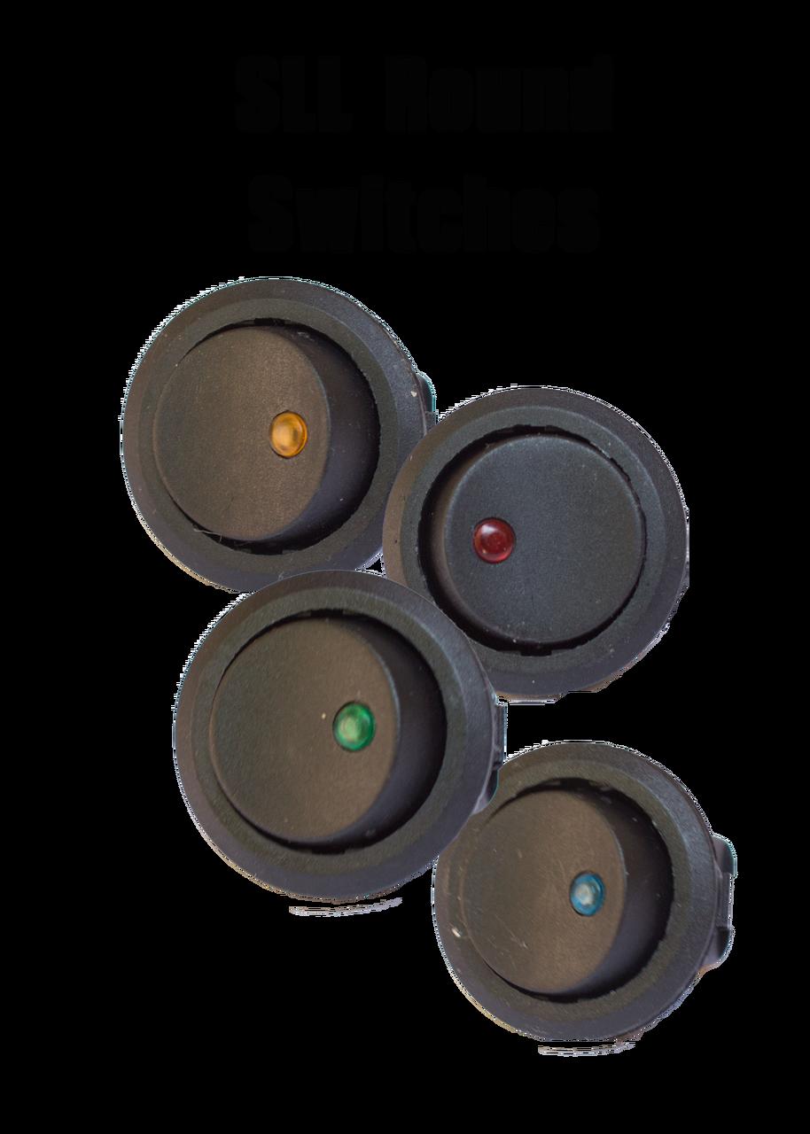 LED Backlit Round Switch