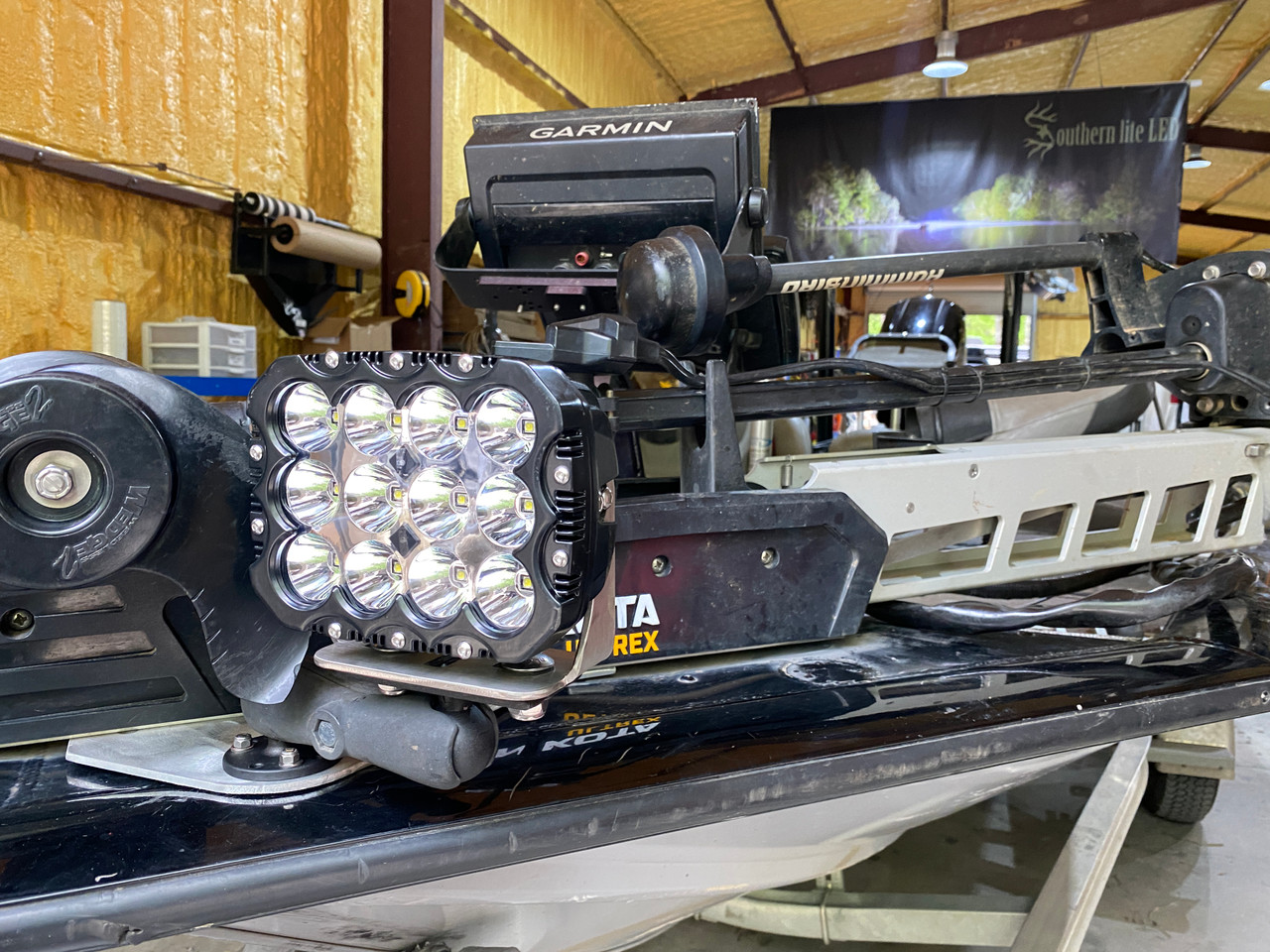 *NEW* Bass Boat Light ULTRA 2.0 with Non Drill Mounting Plate (120 WATT)