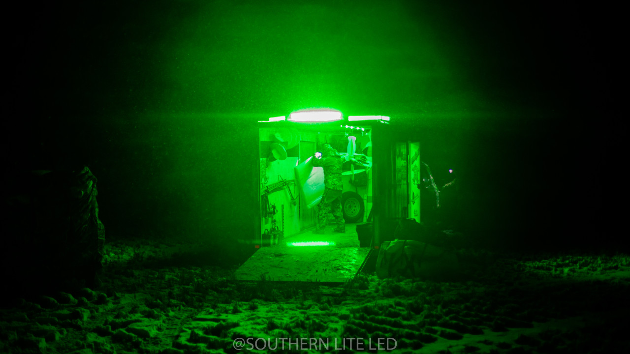 WATERFOWL OBSESSION TV DECOY TRAILER PACKAGE GREEN LEDS