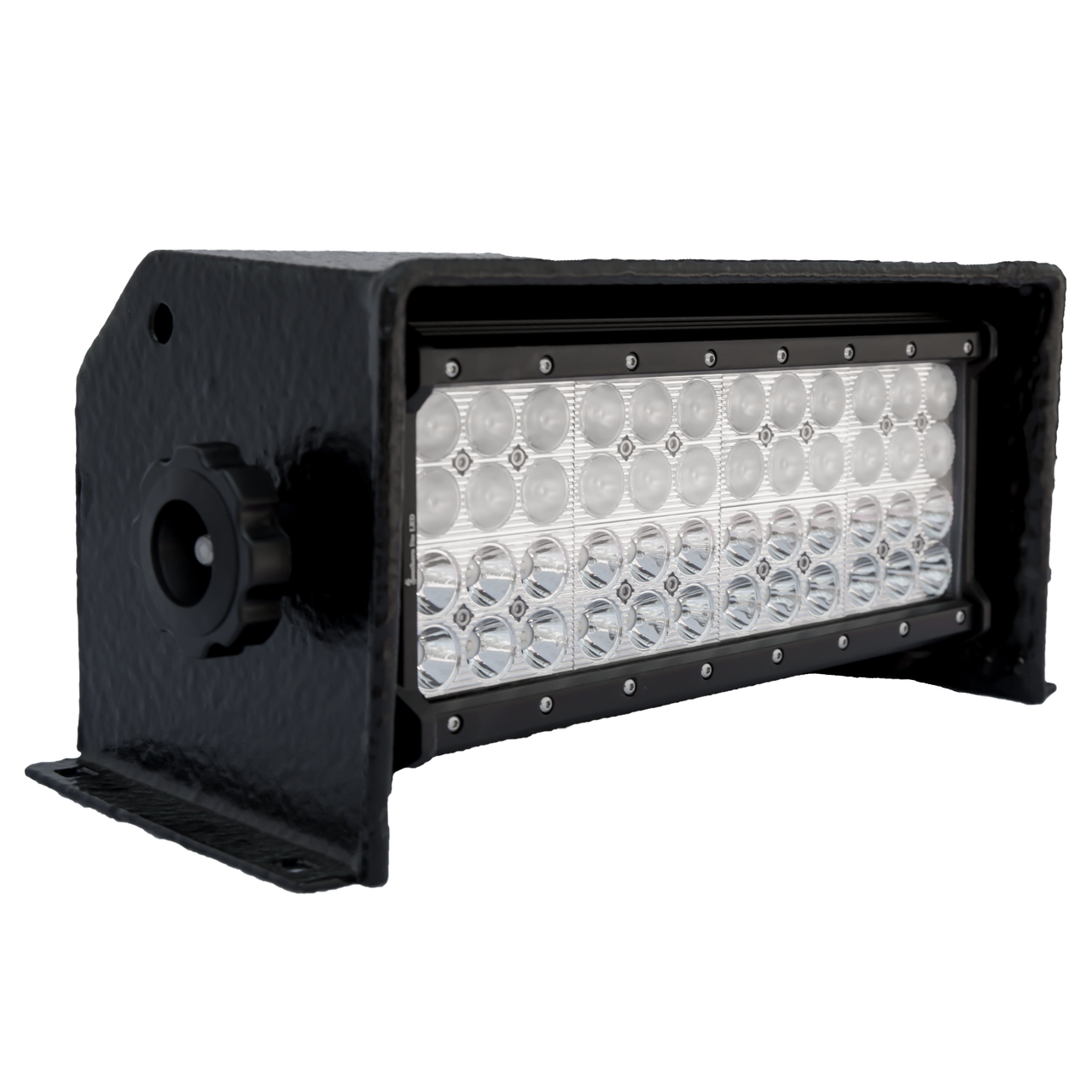 GEN1.2 Boat Lite  (no Add-ons) Includes Standard black housing (shown), Quad Row LED, and mounting hardware.