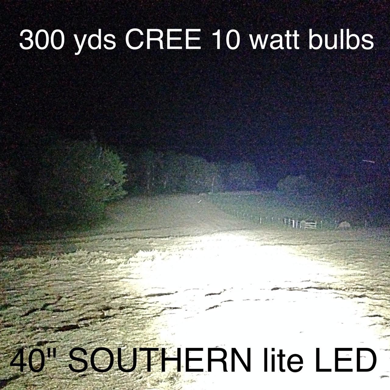 The Cree 10Watt  bulbs Shine further than any 3 watt bulb.