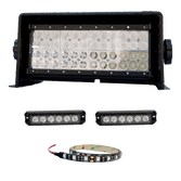 Includes one boat lite, choose GEN1.2/GEN2/GEN3 (Add $160), Rooster Tail LED lights, and 16 foot Snake tube LED lights (can be cut to any size)