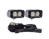The Duece - Now sold as a pair with wiring harness 4.5 inch light bars with two 10 Watt XM-L USA Cree LEDs = 20 Watts/light bar
