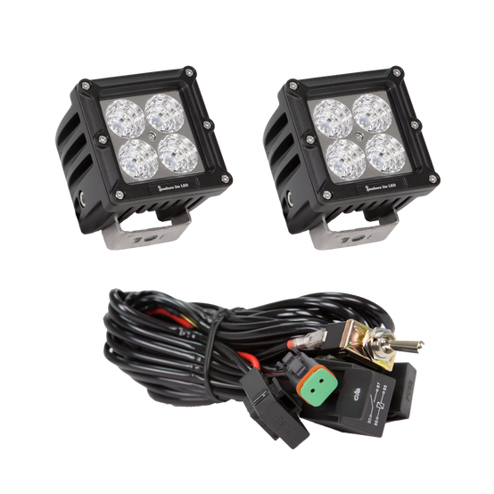 CUBE  Four 10 Watt LEDs = 40 Watts per CUBE Includes two cubes and wire harness