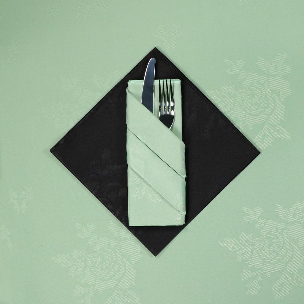 100percent Polyester Damask Rose Napkins