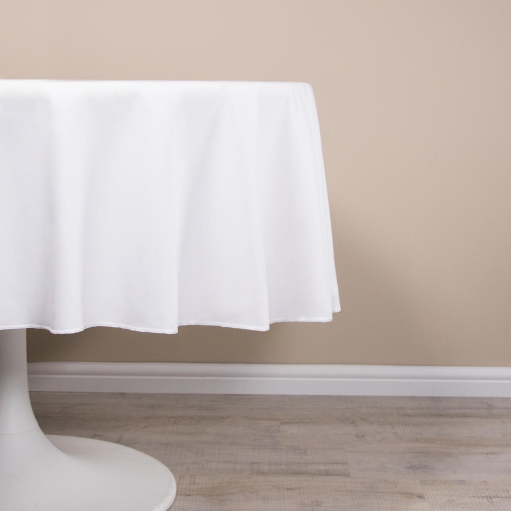 Hotel Quality Easy Iron 275 GSM Round Polycotton Tablecloths