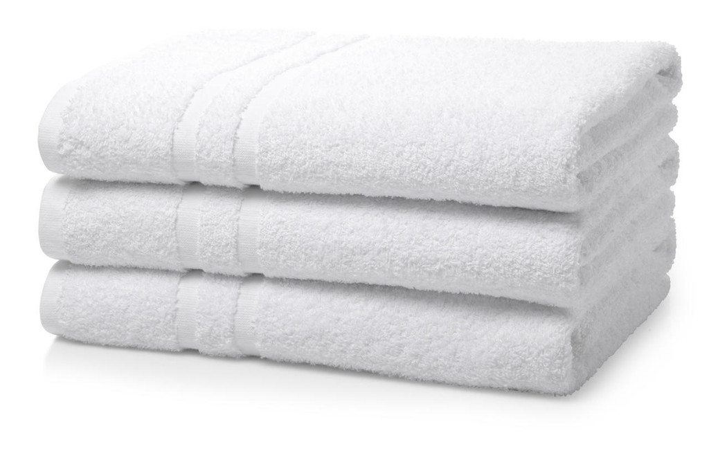 500 GSM Institutional/Hotel Bath Towels - Pack of 4 White