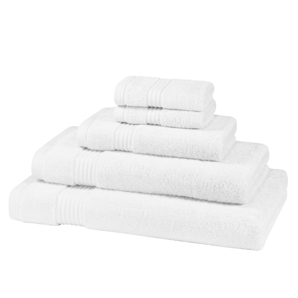 5 Piece 700GSM Bamboo Towel Set - 2 Face Cloths, 1 Hand Towel, 1 Bath Towel, 1 Bath Sheet