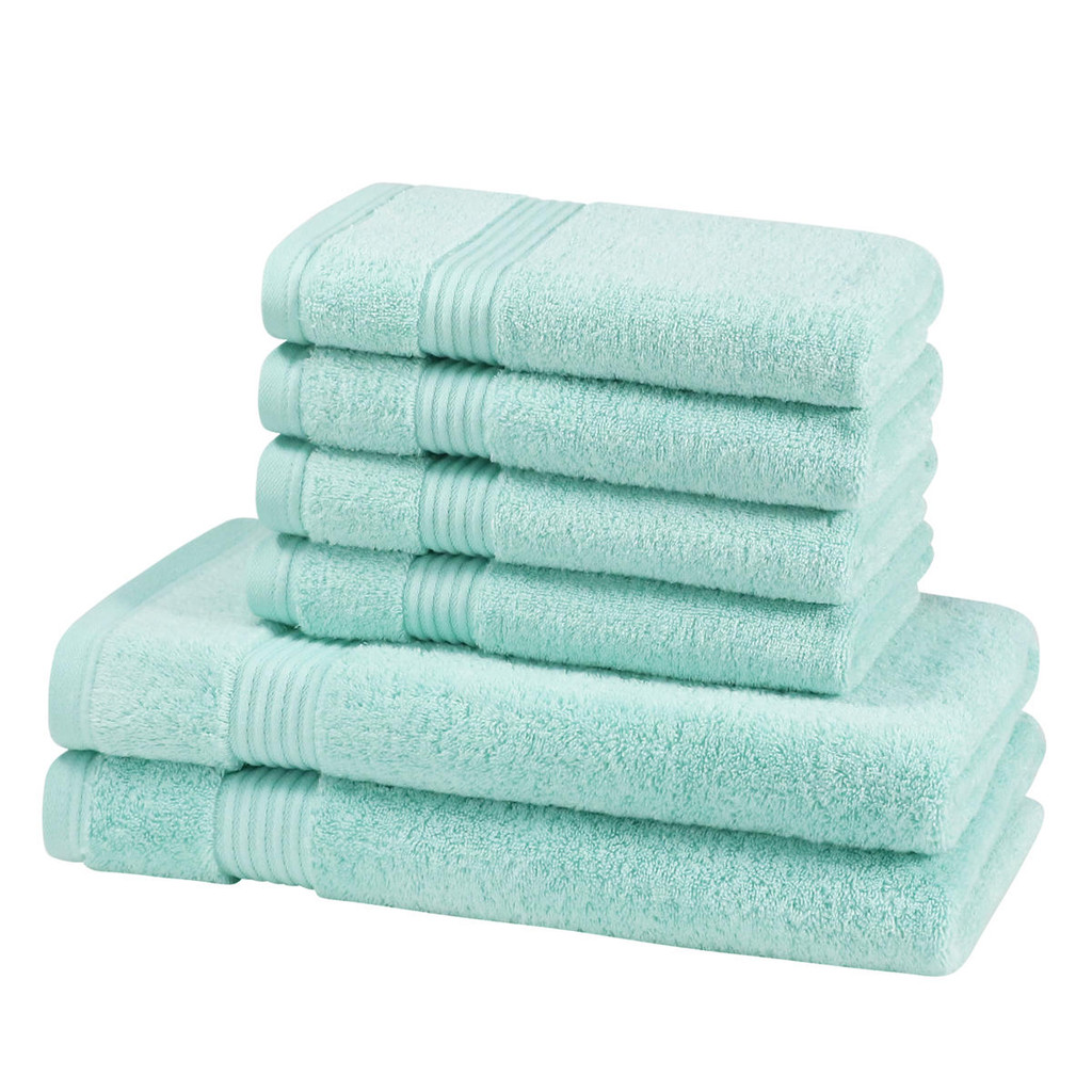 6 Piece 700GSM Bamboo Towel Set - 4 Hand Towels, 2 Bath Towels