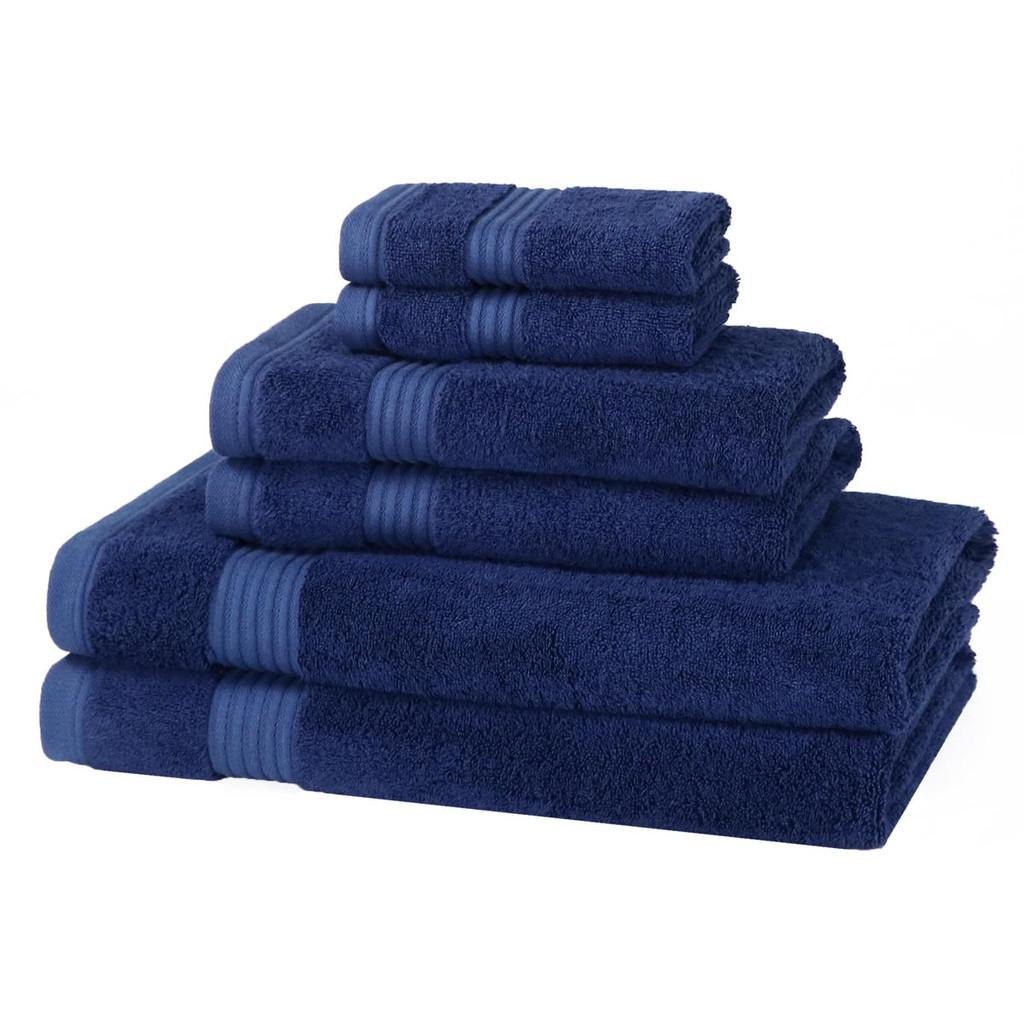 6 Piece 700GSM Bamboo Towel Set - 2 Face Cloths, 2 Hand Towels, 2 Bath Towels