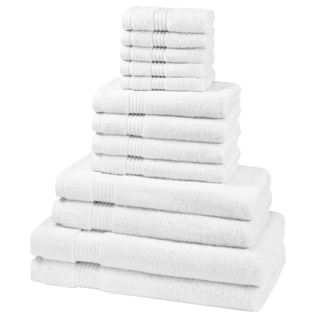 12 Piece 700GSM Bamboo Towel Set - 4 Face Cloths, 4 Hand Towels, 2 Bath Towels, 2 Bath Sheets