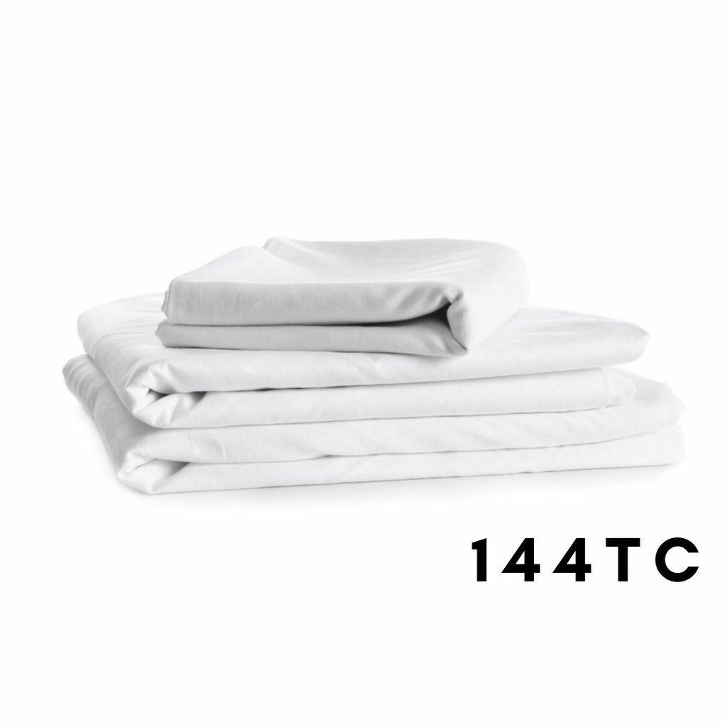 144 Thread Count 68 Pick Polycotton - Flat Sheets