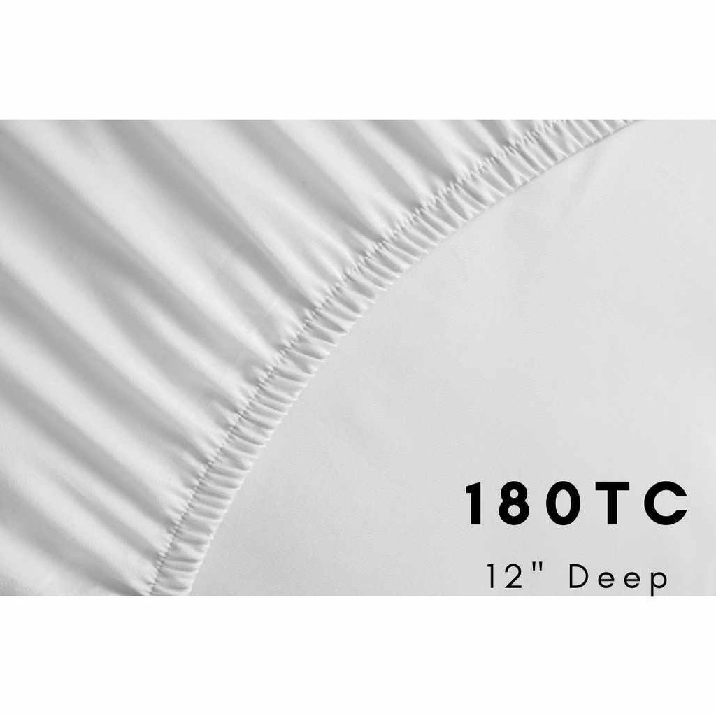 180TC Easy Iron Percale Fitted Sheets 16 Extra Deep