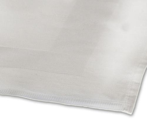 100percent Cotton Satin Band White Tablecloth - 54x90 137x229 cm