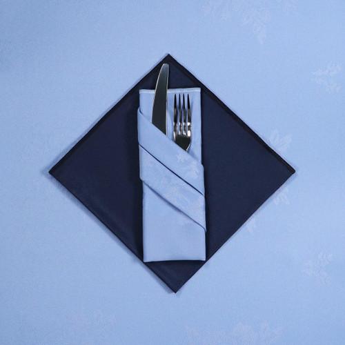 100percent Polyester Damask Rose Wedgewood Napkins - 16x16