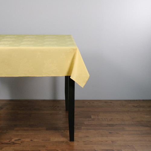 100percent Polyester Damask Rose Lemon Tablecloths - 70x108 178x274