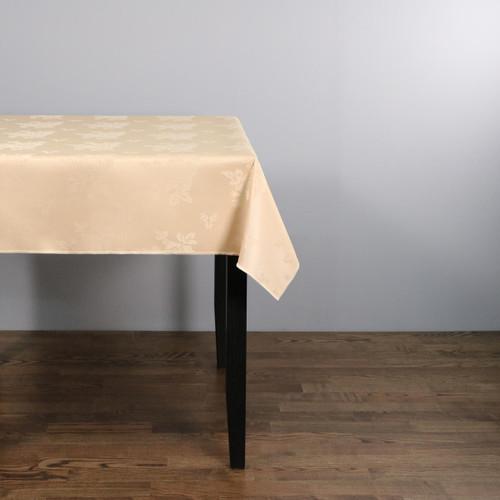100percent Polyester Damask Rose Sandalwood Tablecloths - 70x108 178x274