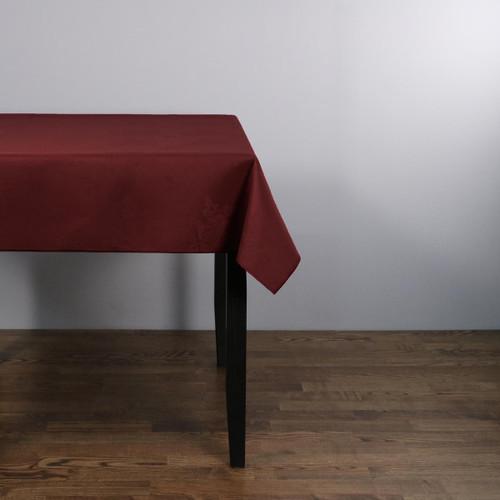 100percent Polyester Damask Rose Burgundy Tablecloths - 70x108 178x274