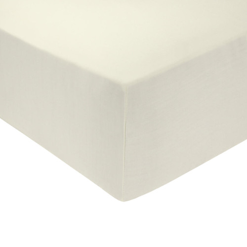 4 Foot Bed 68 Pick Polycotton Fitted Sheet - Cream