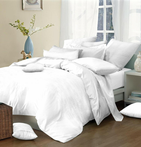 180TC Easy Iron Double Percale Duvet Cover Pack of 5 White