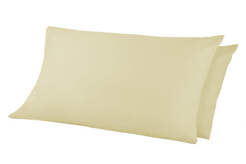 68 Pick Polycotton Pillowcases - Cream Pack of 2