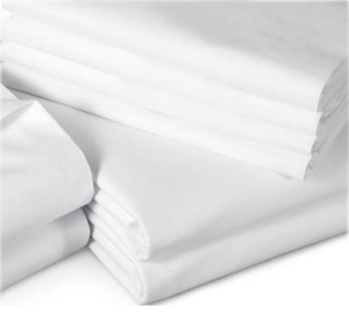 Single Hotel Cotton Flat Sheets 20x20/60x60 - Pack of 5