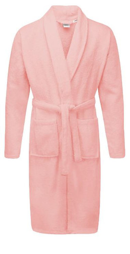 Pink 100percent Cotton Terry Towelling Bath Robes