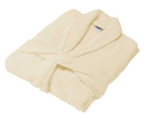 Cream 100percent Cotton Terry Towelling Bath Robes