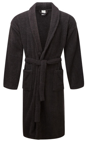 Black 100percent Cotton Terry Towelling Bath Robes